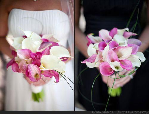 Pink Callah bouquet
